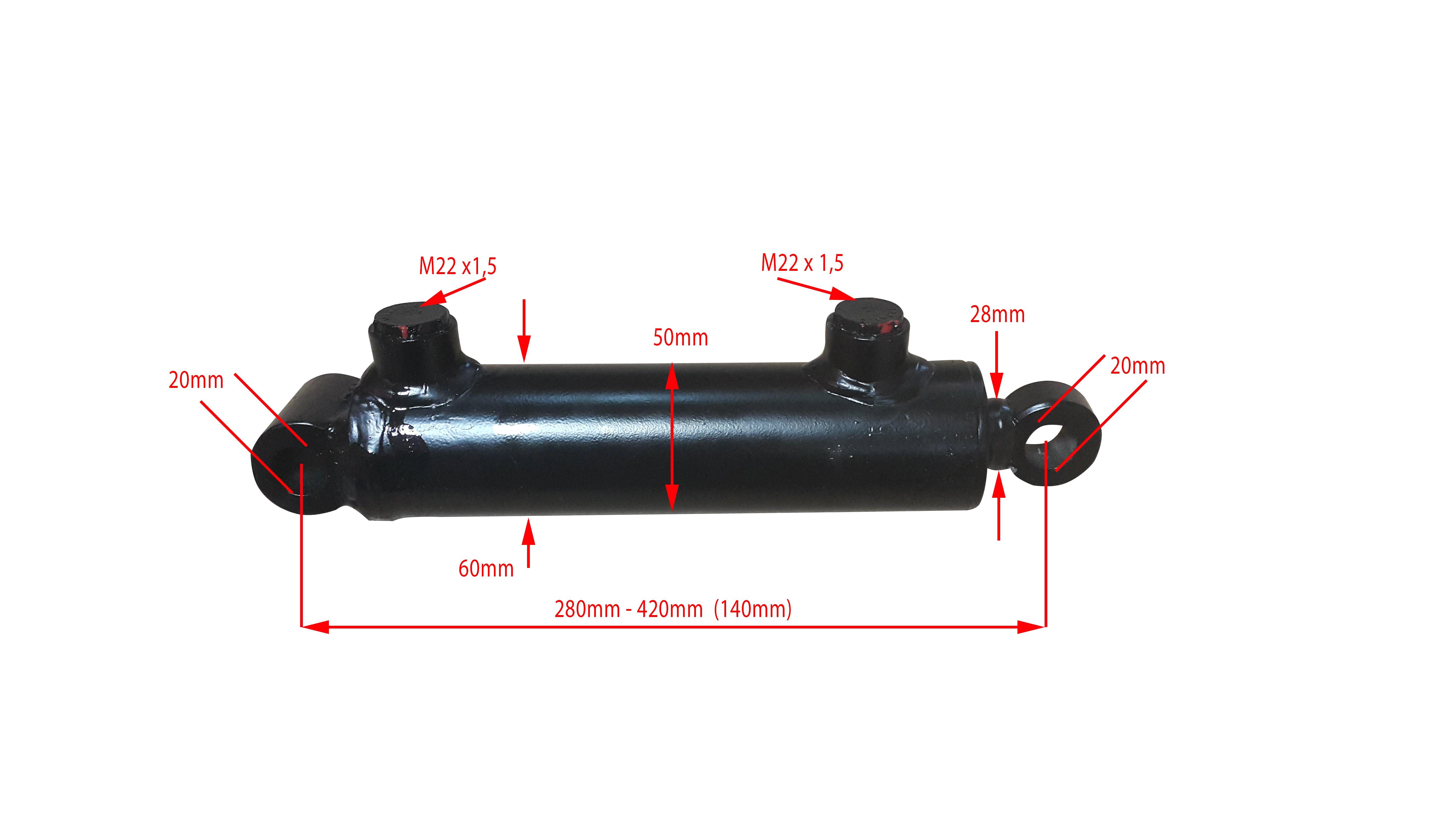 Silownik Hydrauliczny Dwustronnego Dzialania 62cm 8001162771 Oficjalne Archiwum Allegro
